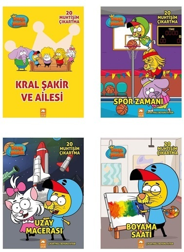 Morhipo kitap Kral Şakir Boyama Set (4 Kitap) Renkli